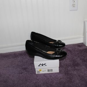 Black Anne Klein Wedge Heels